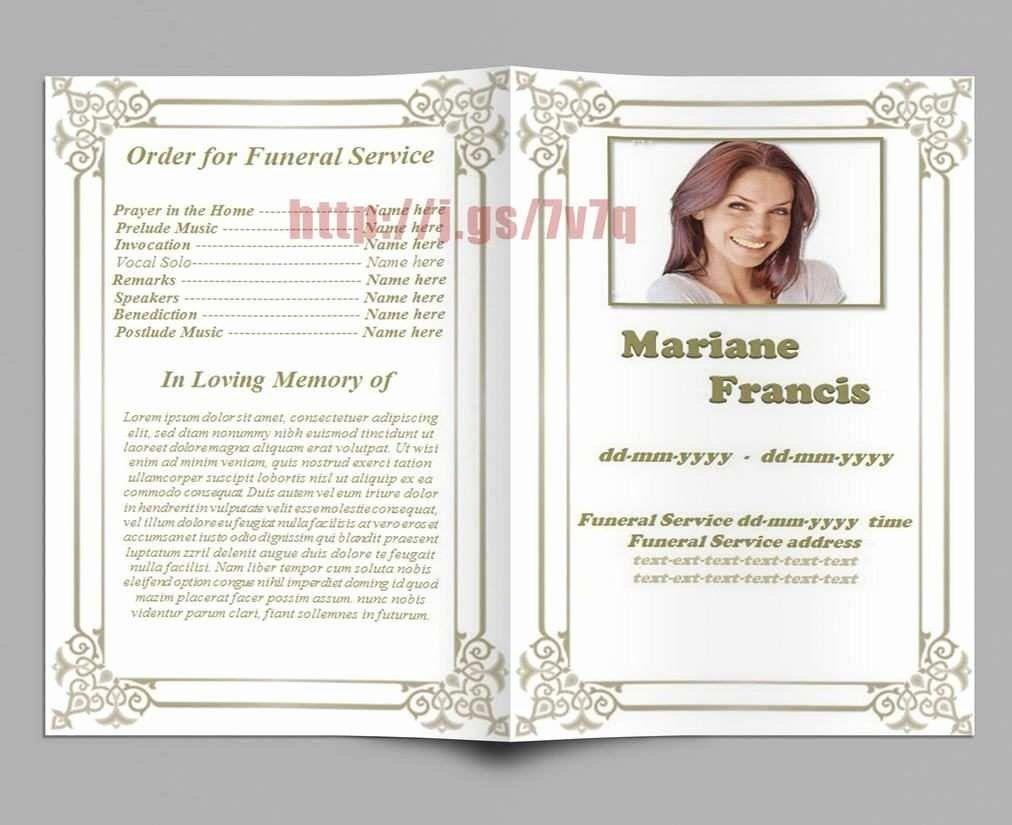 Free Memorial Cards Template Lovely Lovely Memorial Cards For Funeral Template Free Funeral Program Template Funeral Program Template Free Funeral Programs