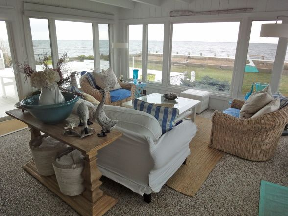 Decorating A Sunroom Beach Style | Sun Room   Living Room Designs    Decorating Ideas   Part 73