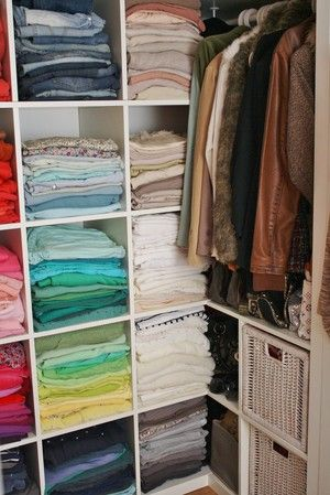 Great idea for more space in a small closet!