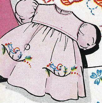 Vogart 261 Dainty Motifs for Children's clothing. A 1960s hand embroider pattern.