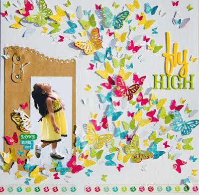 Fly High #layout by Lady Grace Belarmino #scrapbooking #papercrafts
