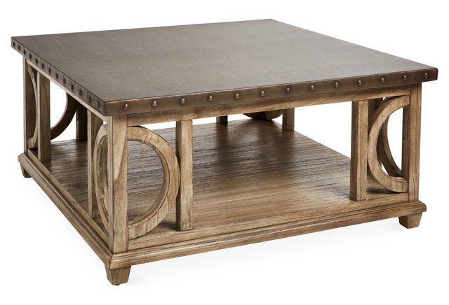 Good Size Would Be Expensive For 2 But A Good Sze And Style Wyatt 40 Square Coffee Table Gray Coffee Table Square Coffee Table Hammered Coffee Table