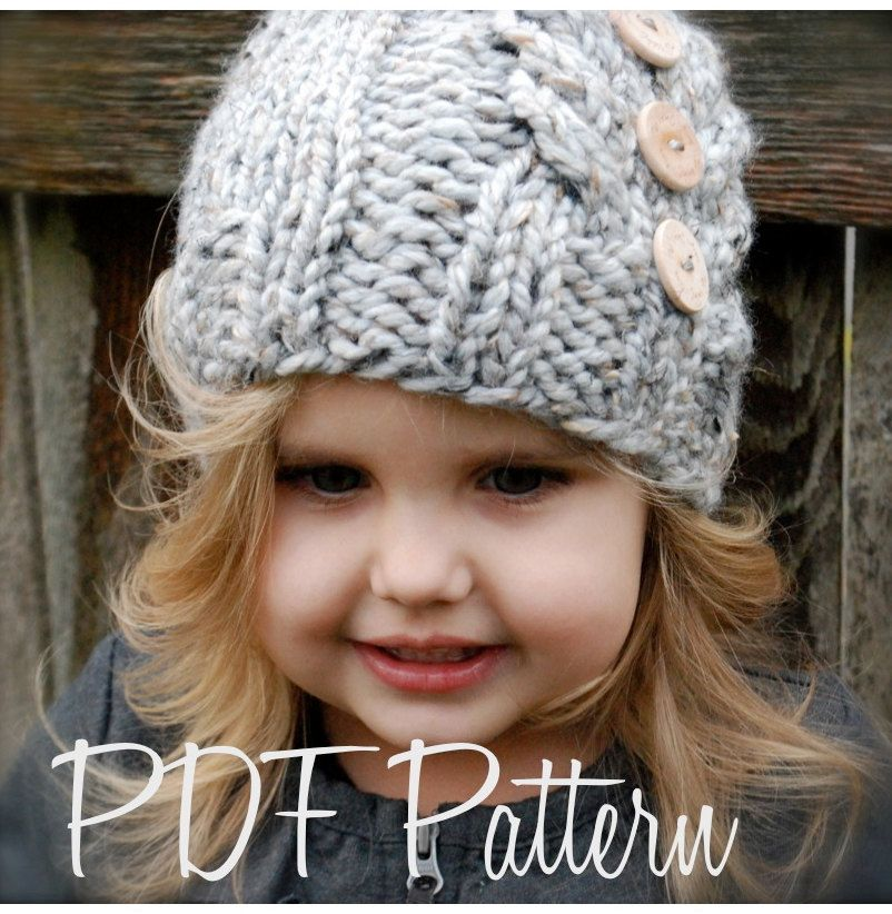 Knitting PATTERN-The Irelynn Hat (Toddler, Child, Adult sizes) also ...