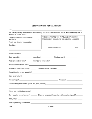Rental Verification Form 369 Being A Landlord Certificate Of