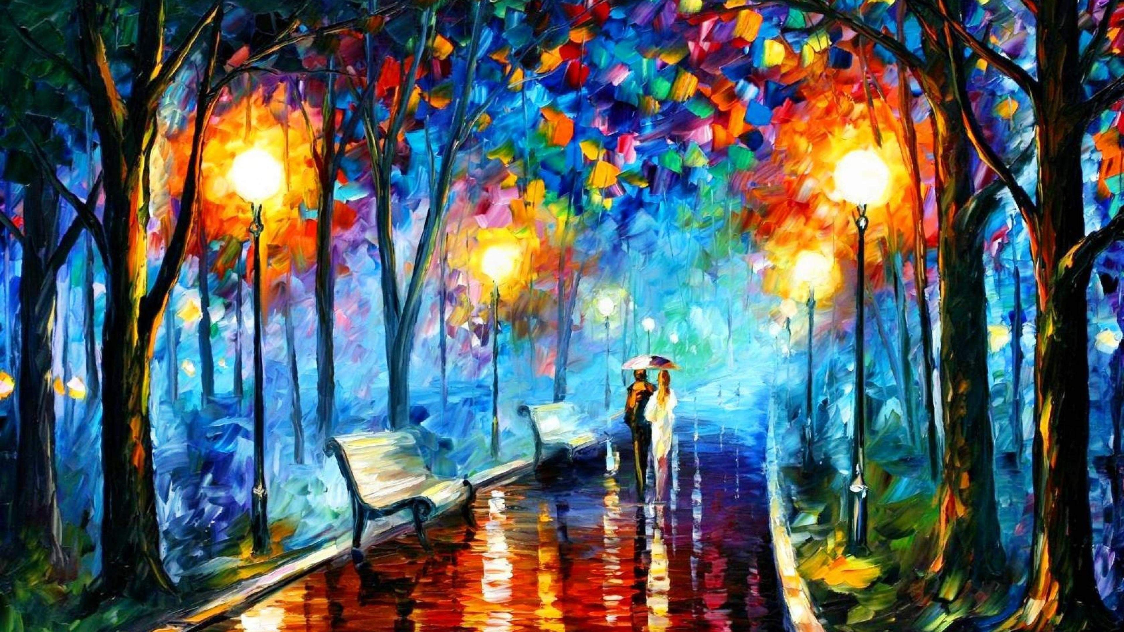 Couple Painting Art 4k Ultra Hd Wallpaper