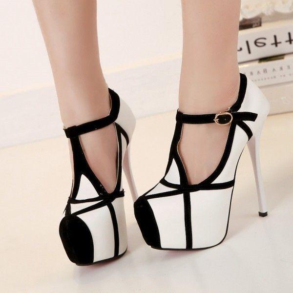 high heels, Ankle strap heels