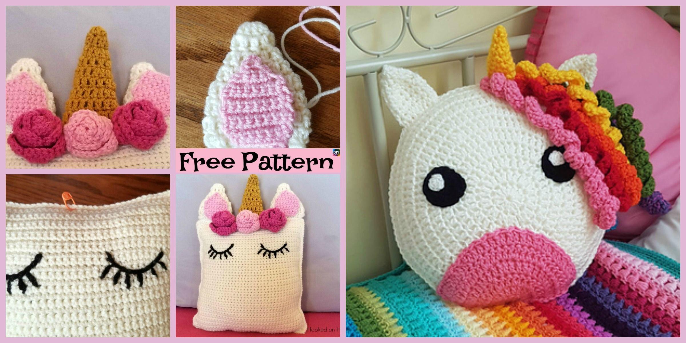Cute crochet unicorn pillow free patterns crochet kids