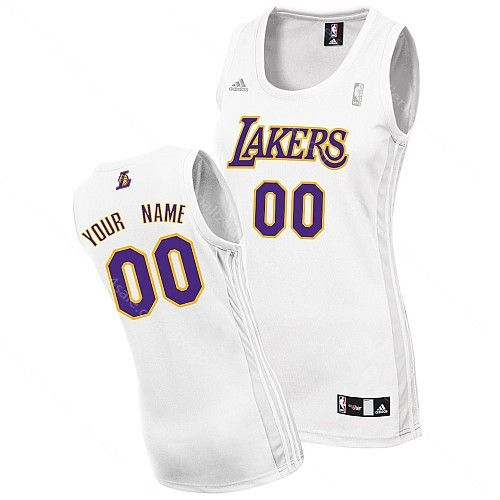 NBA Los Angeles Lakers Customized Women White Jersey  3c63885b2
