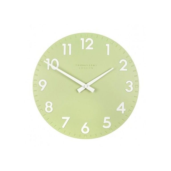 Thomas Kent Camden Clock Pistachio 12 Inch Liked On Polyvore Featuring Home Decor