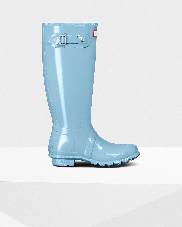 Womens Boots Hunter Original Tall Blue Sky