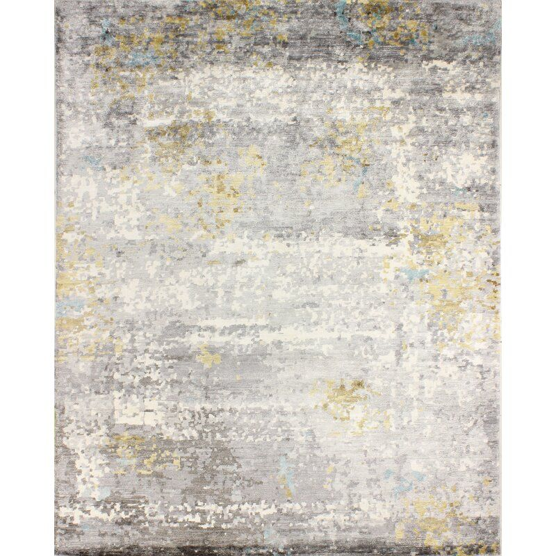 Kanti Abstract Hand Knotted Gray Area Rug Grey Area Rug Rugs Area Rugs