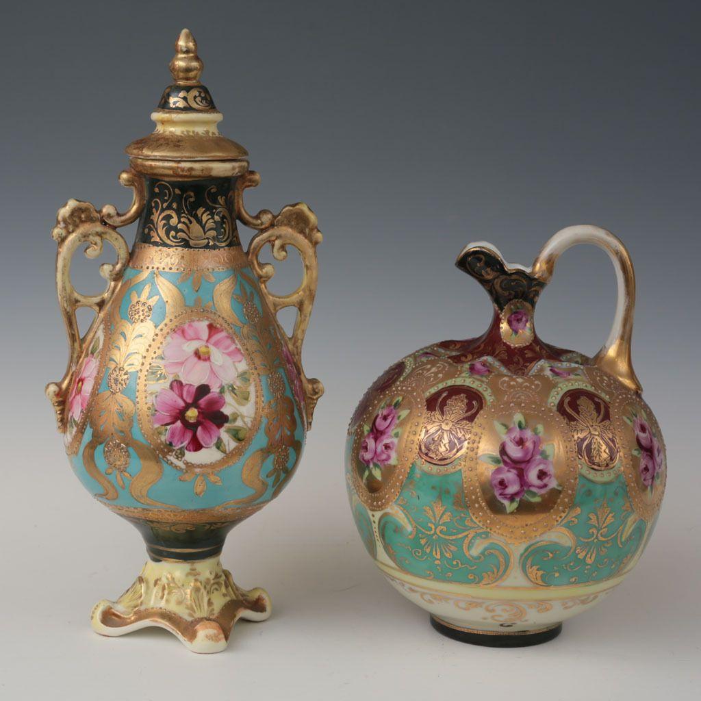 Moriage Roses & Gold Ewer & Amphora $95