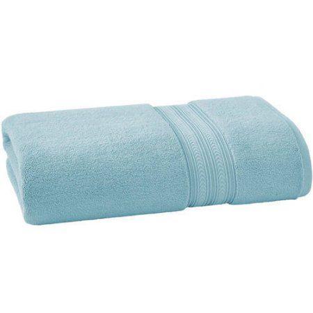 Bhg Thick And Plush Solid Bath Sheet Blue Products Bath