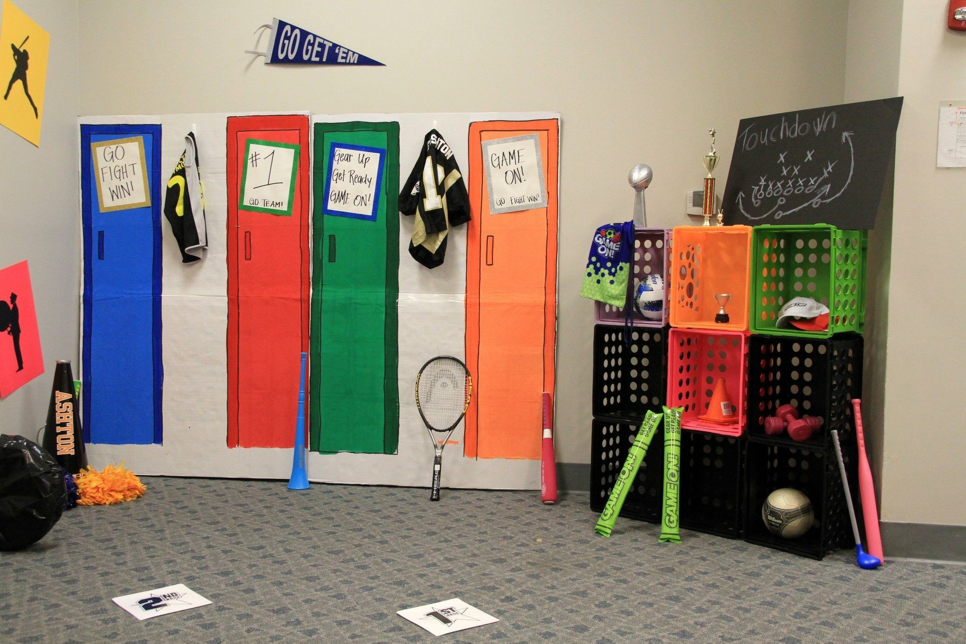 Room Decoration Ideas For Game On Vbs Bible Study Room Field House Google Search Vbs Lifeway Vbs Vbs Crafts