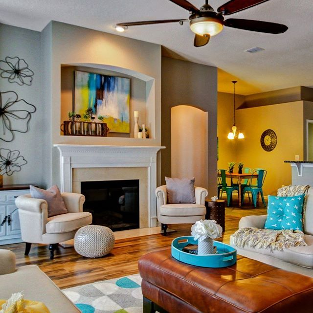 Attractive Interiors Home Staging: Must Be Cozy By That Fireplace