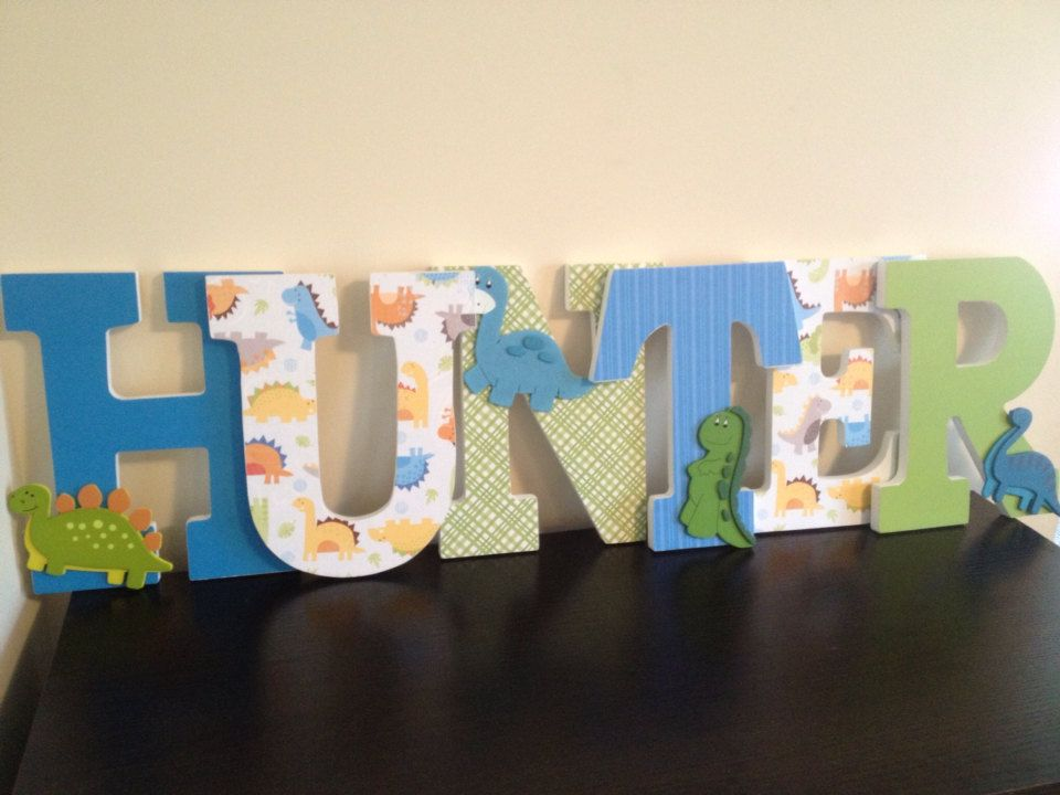I want to make these my self for cooper Dinosaur Wooden Letters
