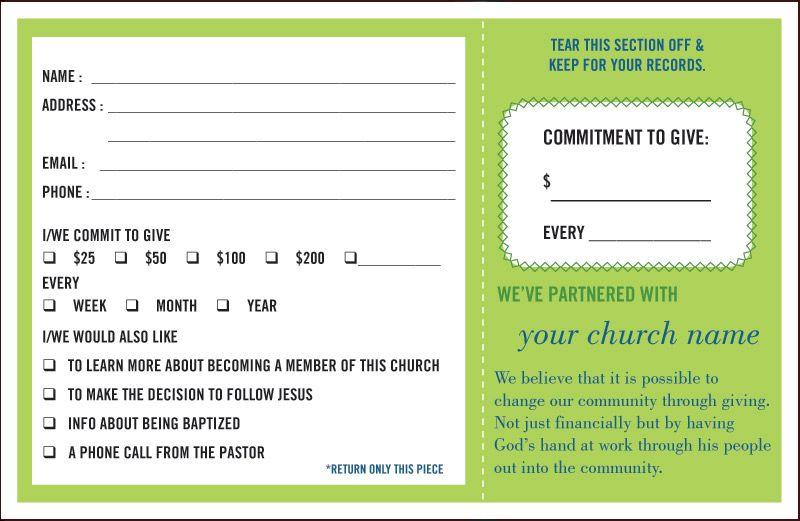 Image Result For Monthly Commitment Card Card Templates Printable Templates Printable Free Pledge