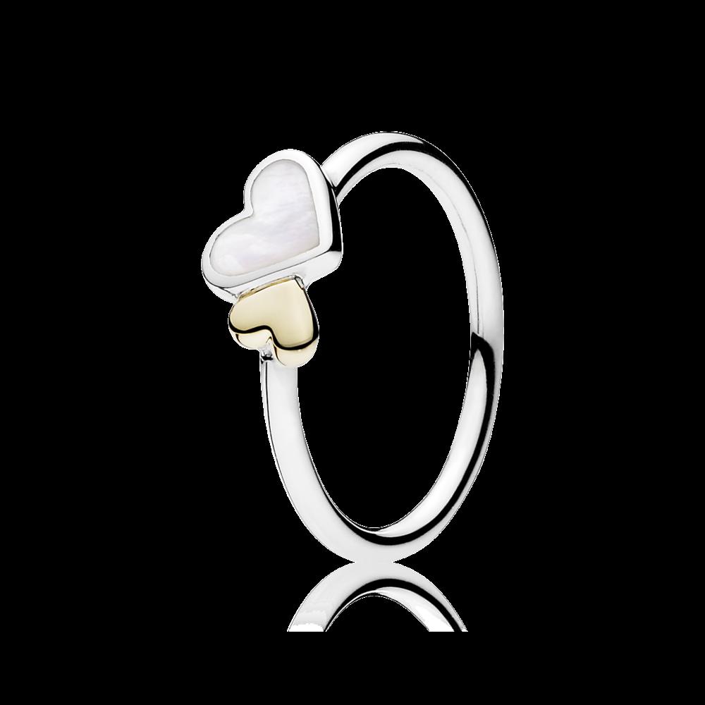 06a1c56af59b PANDORA | Luminous Hearts Feature Ring | PANDORA | Takı