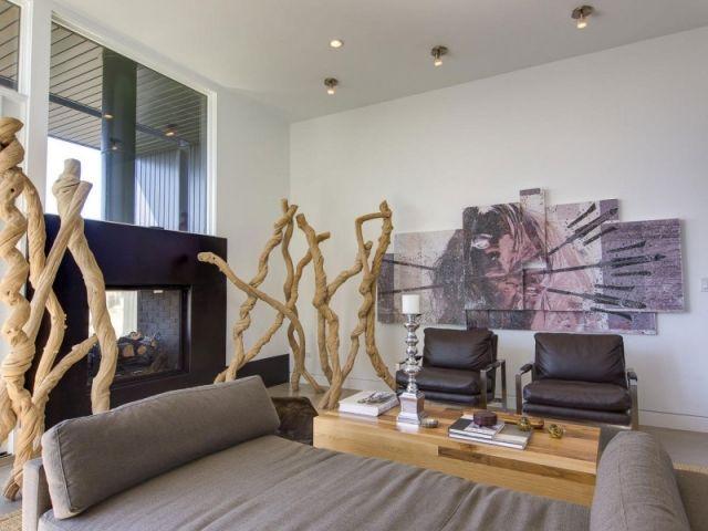Wohnzimmer Bild Wand Boden Rustikale Dekoration Wohnideen