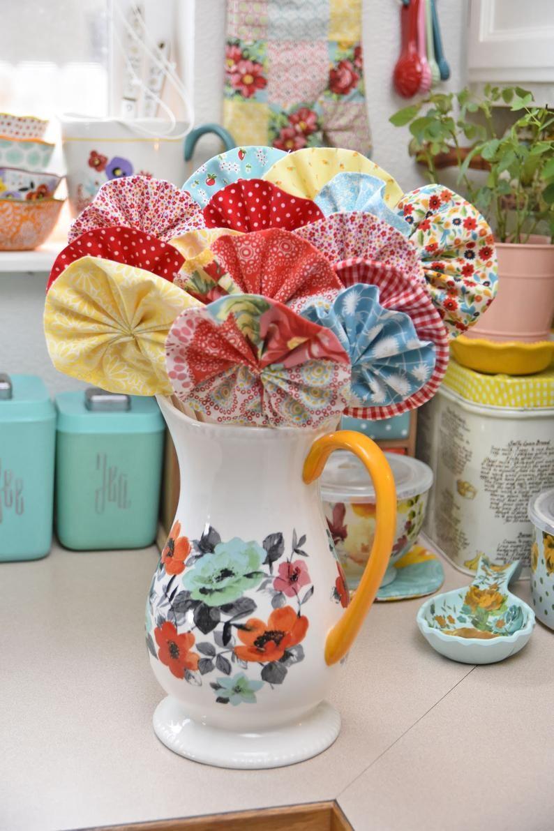 Fabric FlowersFloral ArrangementsPioneer Woman Etsy in