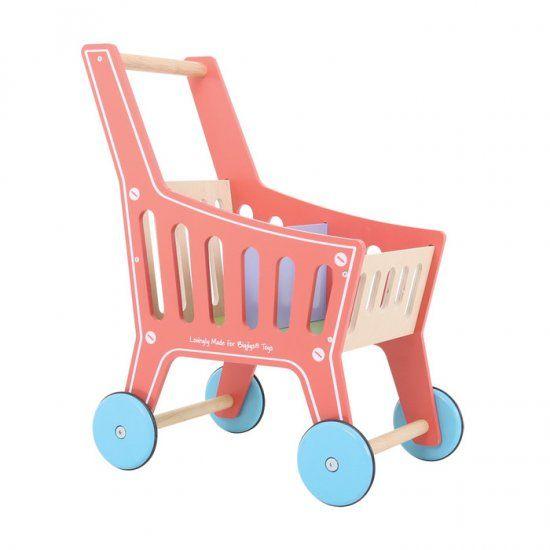 Girls Kids Childrens Wooden Nursery Bedroom Furniture Toy: Bigjigs Shopping Trolley : LittleDreamers.ie, Nursery