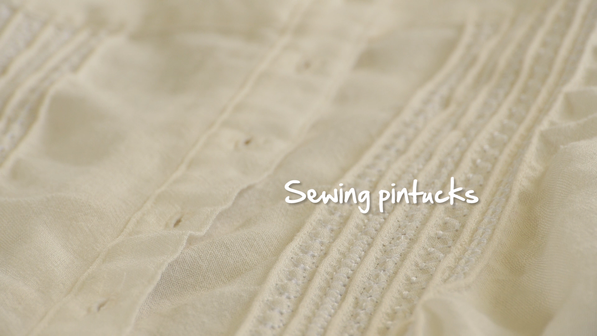 Photo of Sewing Pintucks