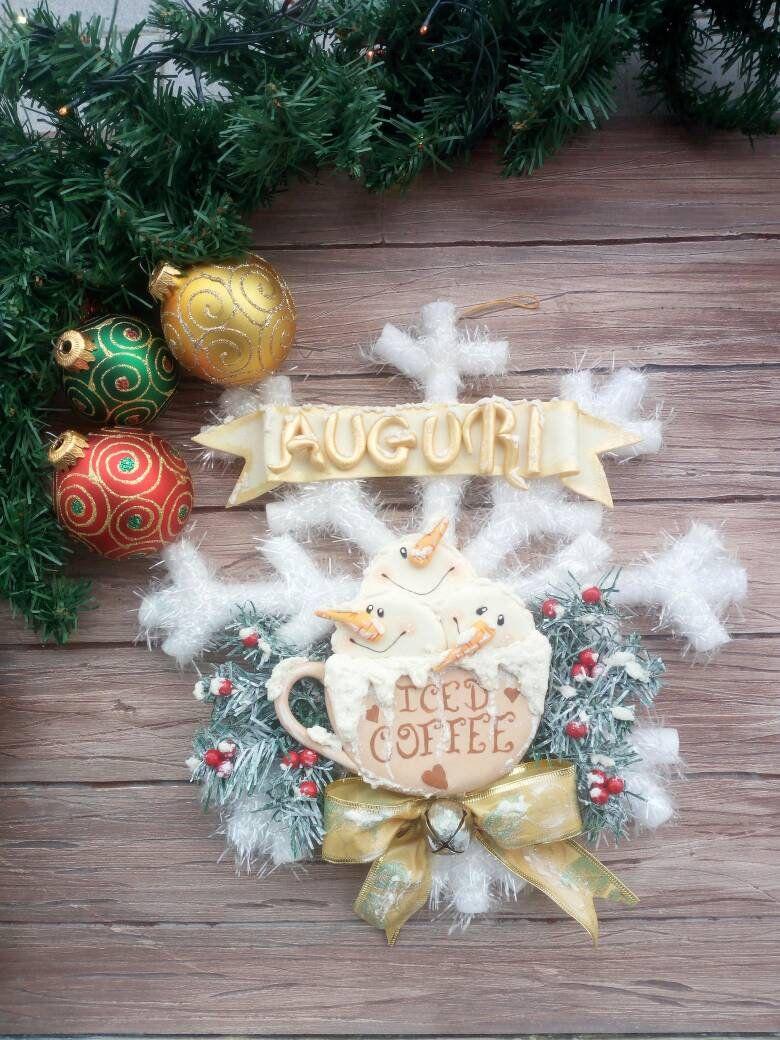 Photo of Articoli simili a Fuoriporta natalizio, ghirlanda di natale, fiocco di neve, targa fuoriporta, pupazzi di neve, regalo di Natale su Etsy