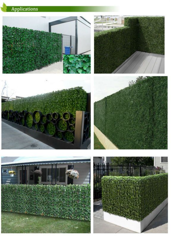 X Long Artificial Ivy Leaf Privacy Fence Screen Decoration Panels  Windscreen Patio