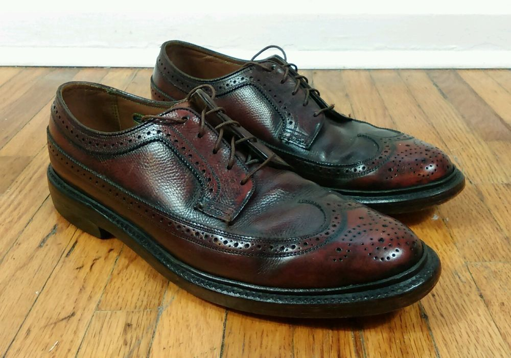 pre-owned florsheim shoes size 8d nails lengths of shower