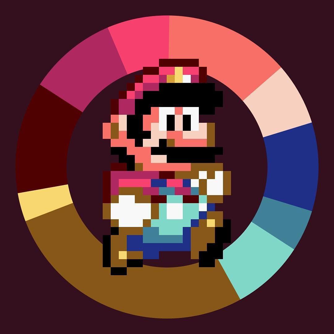 A game color world - Super Mario World Nintendo 1990 Game Colorwheel Color