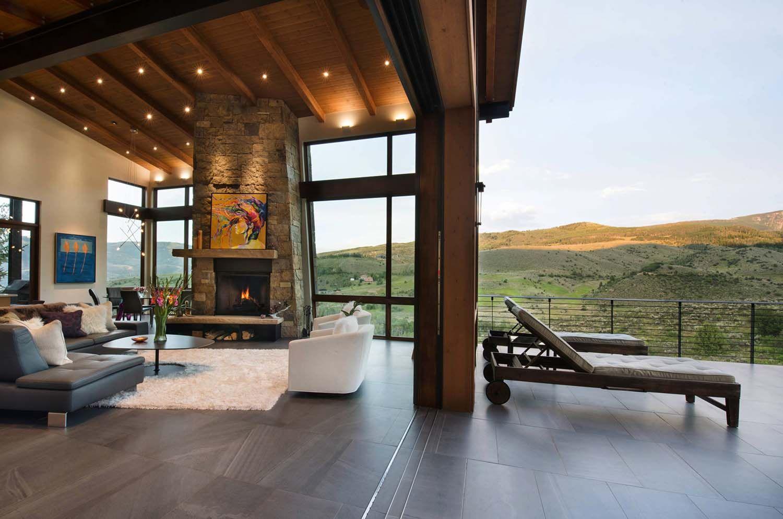 elegant mountain contemporary home in colorado radiates with warmth