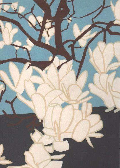 季節の花。ハクモクレン。2018/4/1