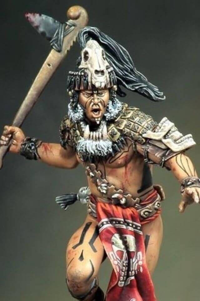 figura de guerrero azteca   nativos   Guerreros mayas, Guerrero ...