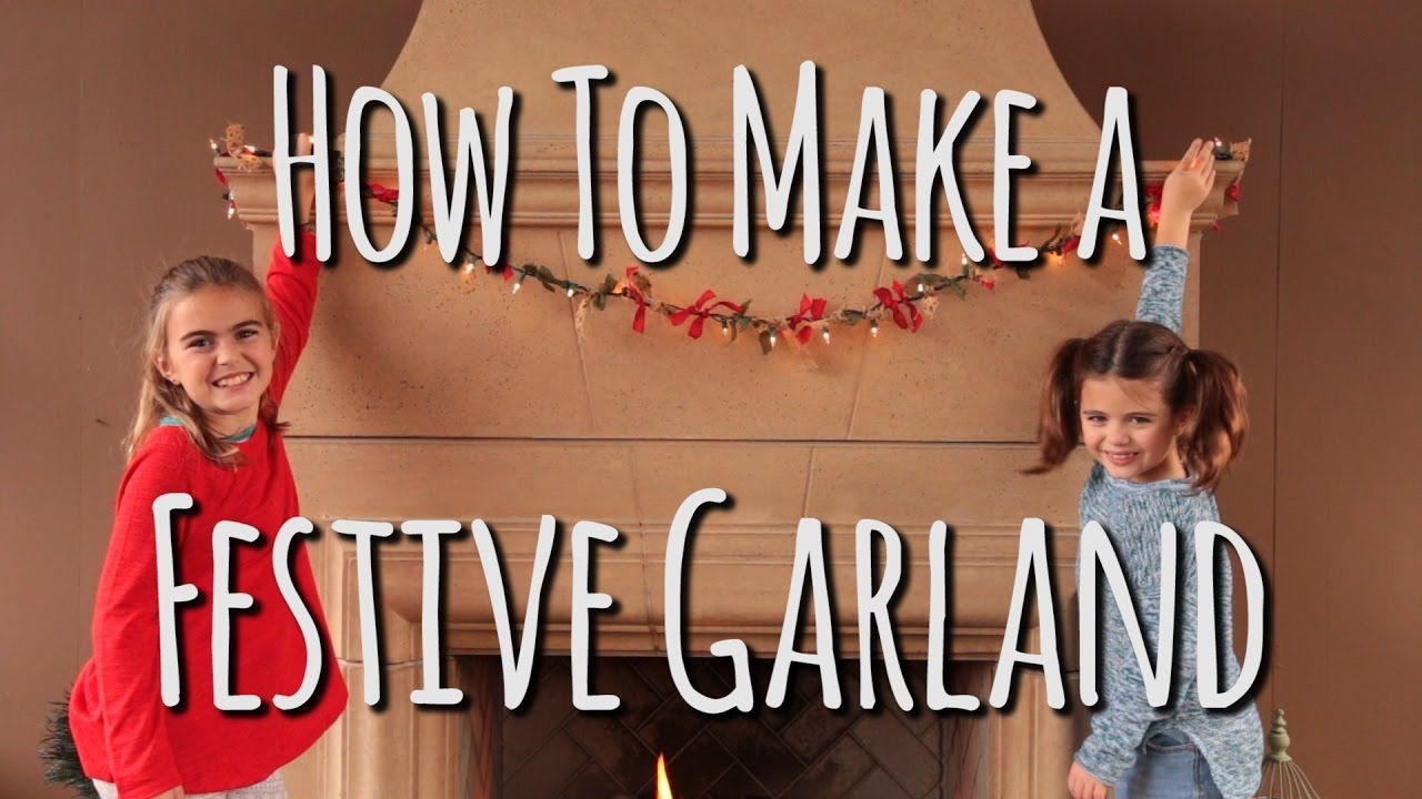 DIY Christmas Decorations | How to Make Holiday Garland | Crafts