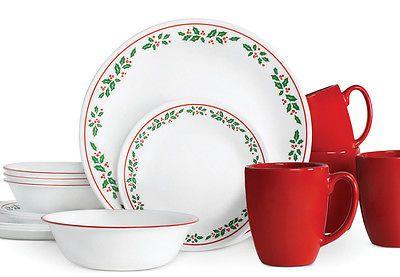 CORELLE CHRISTMAS HOLIDAY DINNERWARE | eBay  sc 1 st  Pinterest & CORELLE CHRISTMAS HOLIDAY DINNERWARE | Christmas holidays ...