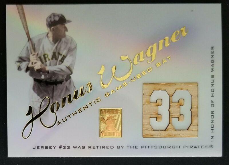 2001 topps tribute honus wagner gu bat relic hof cards