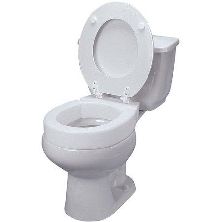 Groovy Mabis Hinged Elevated Toilet Seat Riser Elongated White Onthecornerstone Fun Painted Chair Ideas Images Onthecornerstoneorg