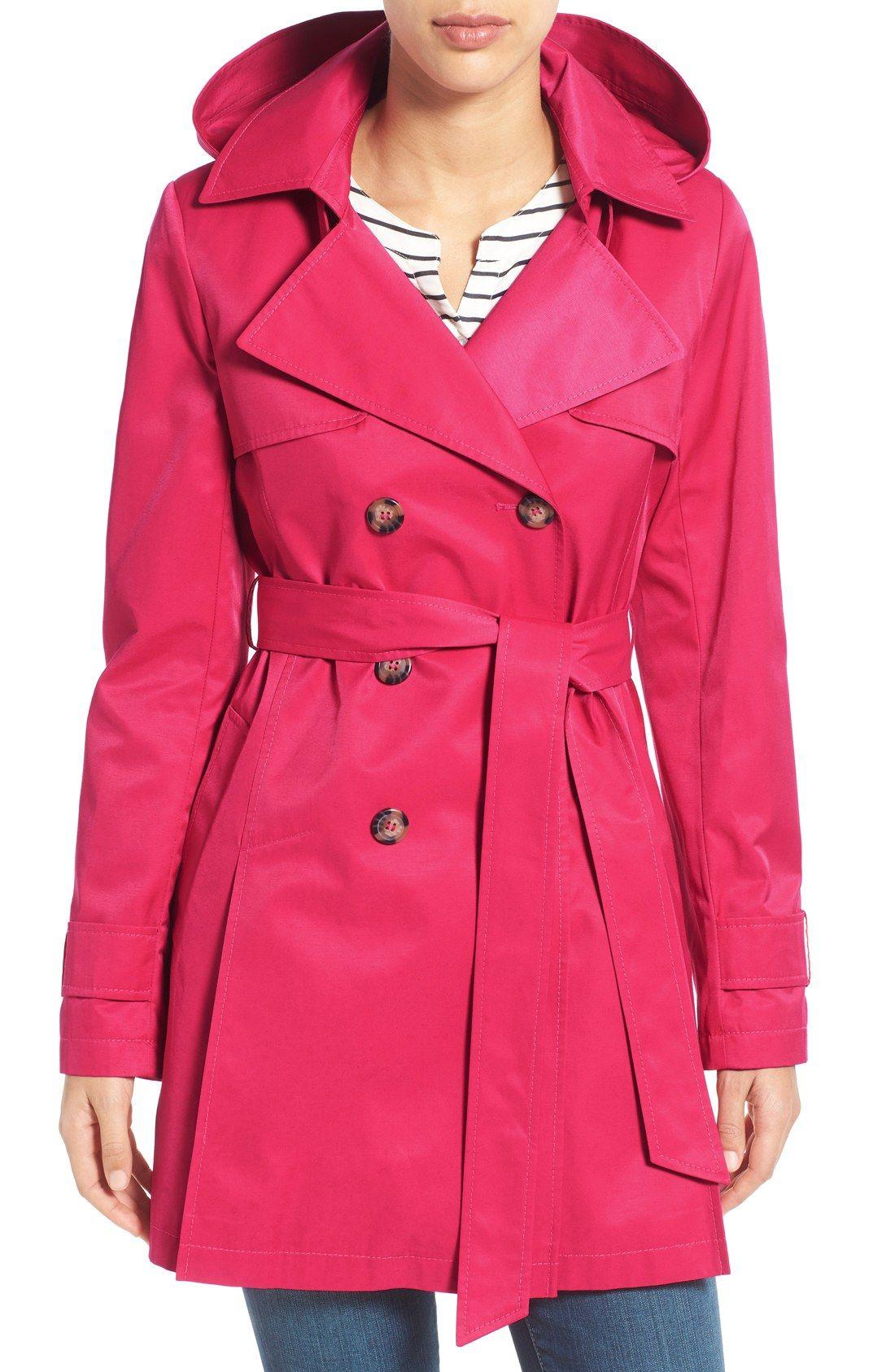 Detachable Hood Trench Coat | Trench, Hoods and Coats