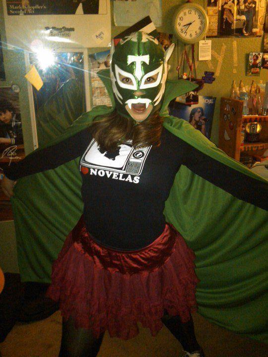 Mustache Monday! (Luchadora costume idea!) Maya in the Moment - clever halloween costume ideas