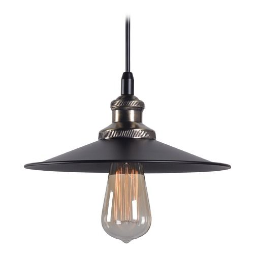 Mid century modern pendant light black and antique bronze ancestry kenroy home ancestry black and antique bronze pendant light with coolie shade 93370bl destination aloadofball Choice Image