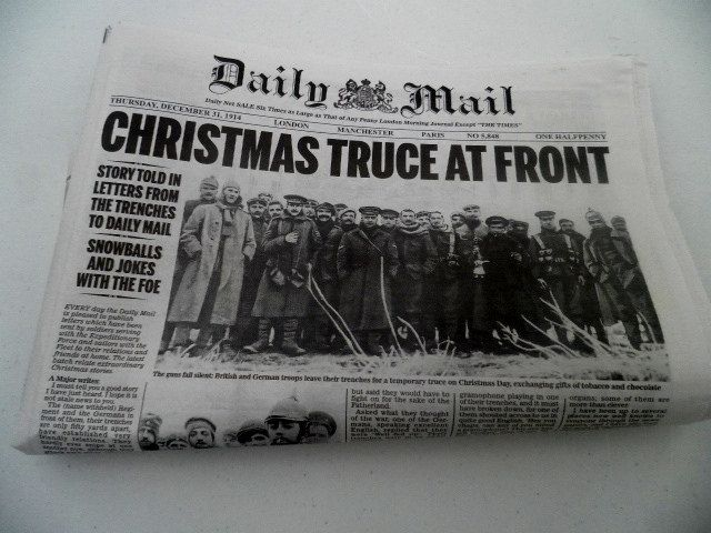 Christmas truce at front daily mail december 1914 first world christmas truce at front daily mail december 1914 first world war fandeluxe Choice Image