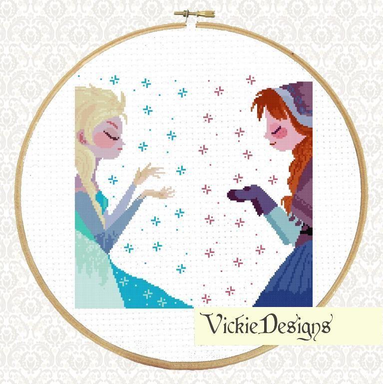 Frozen Disney Movie Cross Stitch pattern on Craftsy.com - Free ...