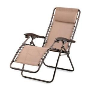 Courtyard Creations Woodfield Bronze Sling Recliner Lounge