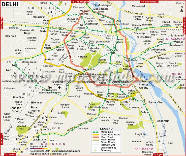 The Capital Has Four Important Satellite Cities Namely Gurgaon - Ghaziabad map