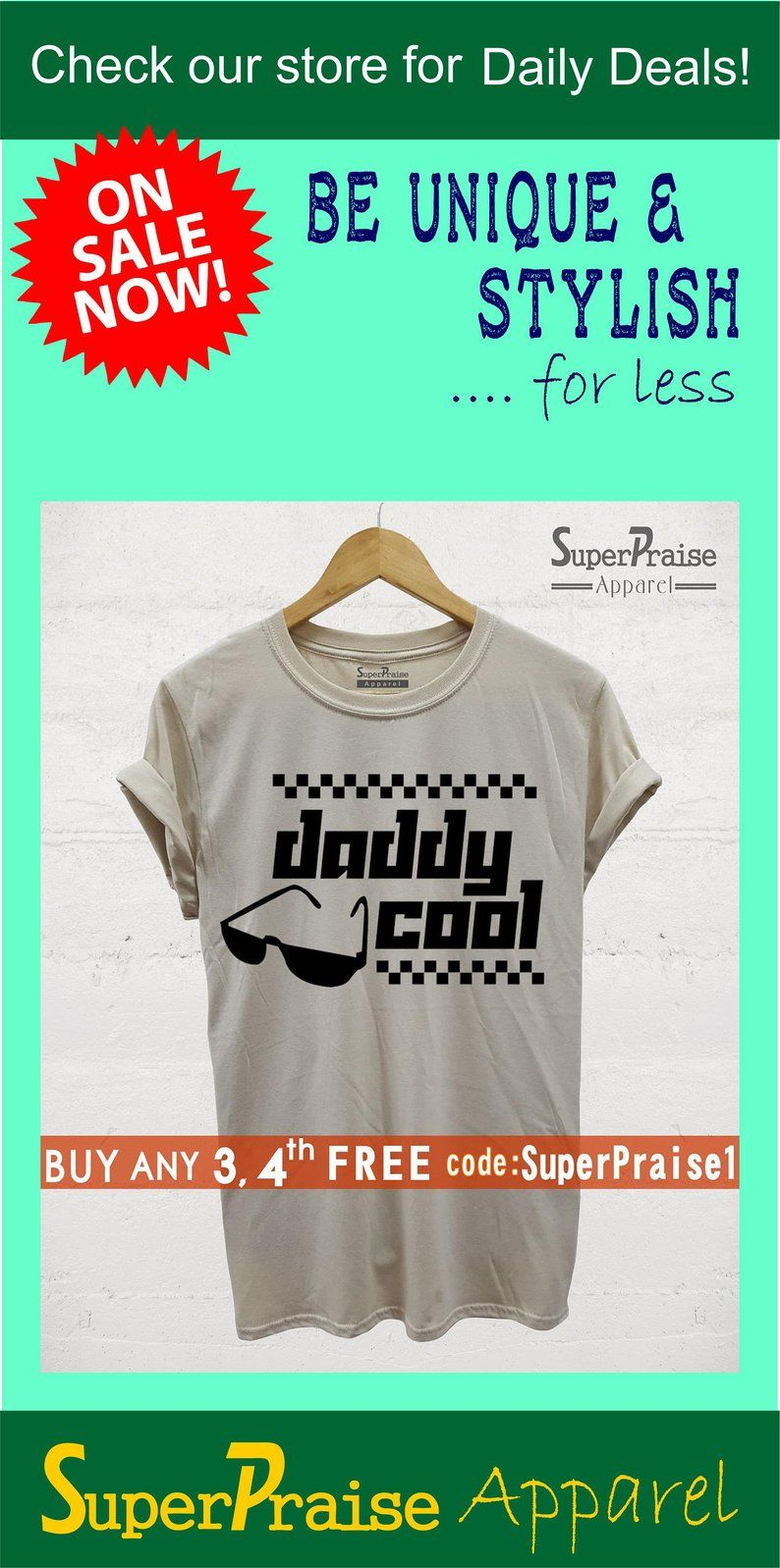 5723f1a3 Gift for dad Daddy Cool Birthday Shirt Awesome t shirts Cool graphic ...