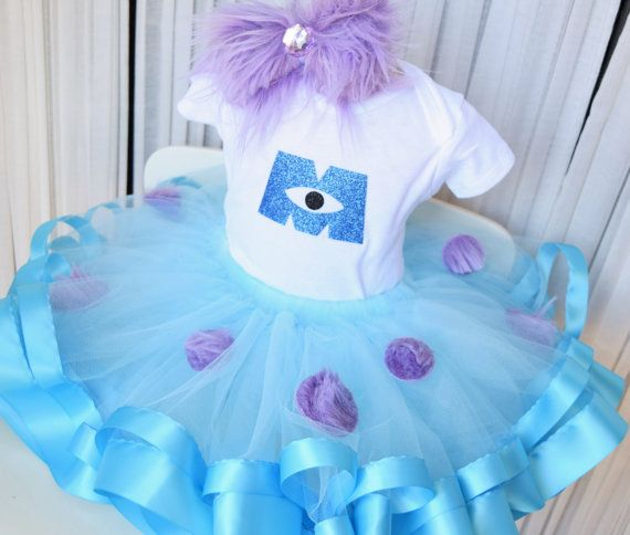401a6b508 Monsters Inc Costume - Monsters Birthday Tutu - Sully Costume - Blue ...