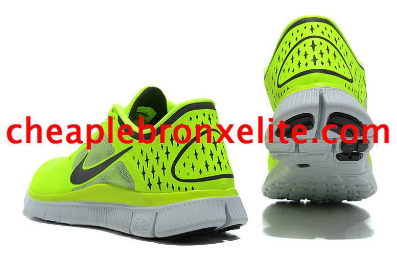 purchase cheap 6db99 48077 Electric Yellow Nike Free Run 3 Mens Green and Black 510642 ...