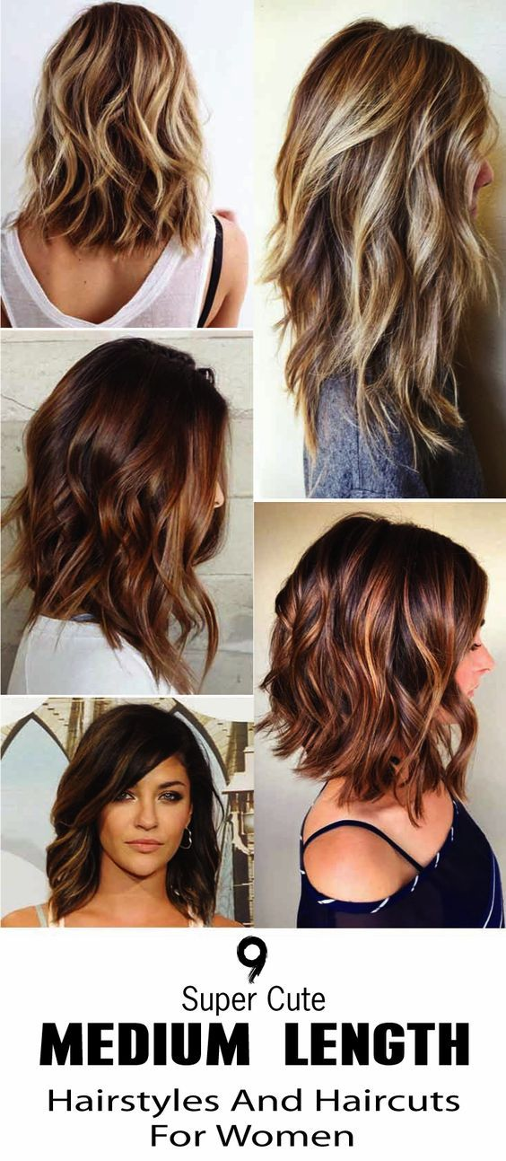 Here Are 9 Super Cute Medium Length Hairstyles And Haircuts For Women No Matter How You We Hair Styles Medium Length Hair Styles Cute Medium Length Hairstyles