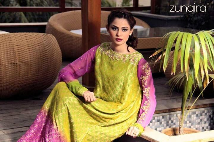 eafa0760a93 Latest Pakistani Party wear Dresses for Women 2015-16 by Zunaira Lounge  Formal Collection