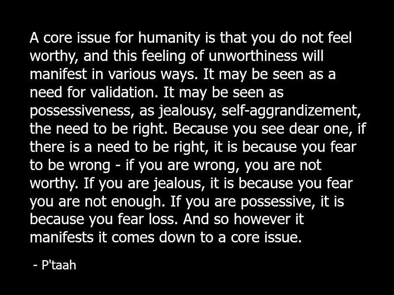 P'taah quote fear spirituality spiritual jealousy self-worth